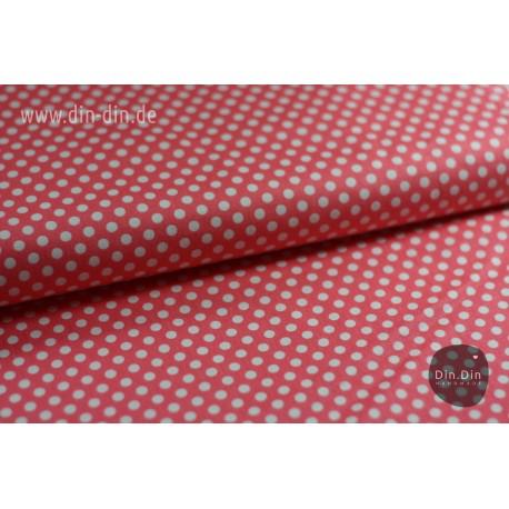 Baumwolle - Punkte, rosa/weiß