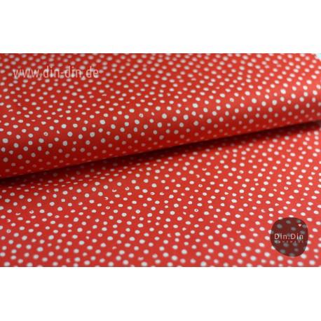 Baumwolle - Punkte Stella, rot
