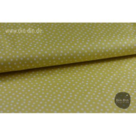Baumwolle - Punkte Stella, gelb