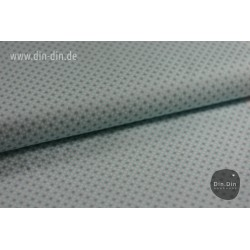 Baumwolle - Punkte, hellblau