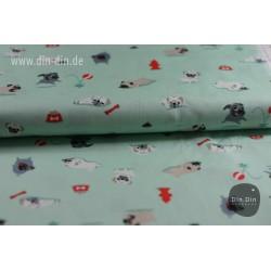 Baumwolle - Mops, hellgrün