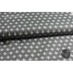 Baumwolle - Kreuze, grau