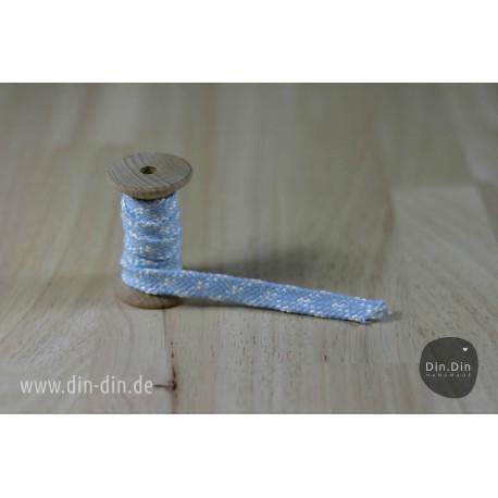 Kordel 1cm - hellblau/weiß