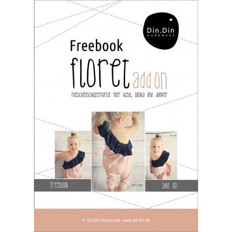 Freebook Floret - Rüschen Schulterpartie