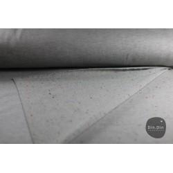 Sweat grau - Innenseite mit bunten Punkten