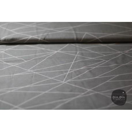 Baumwolljersey - Shape lines silver