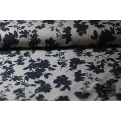 Sommersweat Blumen - blau/grau