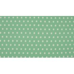 Baumwolljersey - grün weiße Sterne