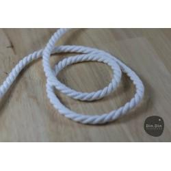 Baumwollkordel gedreht 8mm - weiß