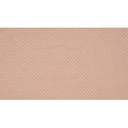 Baumwolljersey - rosé / weiße Punkte