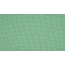 Baumwolljersey - mint / weiße Punkte
