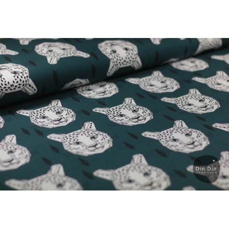 Bio-Baumwollsweat - Leopard Hunters Green
