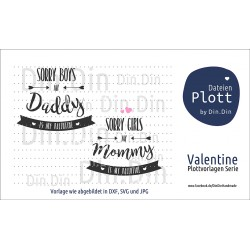 "Plotterdatei ""Daddy´s & Mommy´s Valentine"""