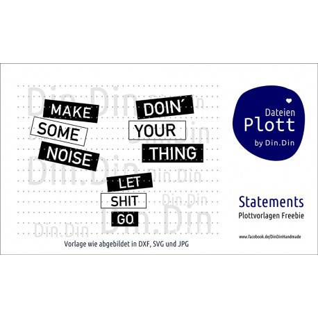 "Plotterdatei ""Make some noise"""