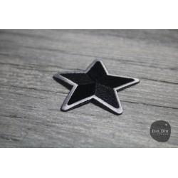 Patch - Stern, schwarz, umrandet