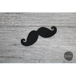Patch - Mustage, schwarz