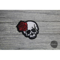 Patch - Totenkopf, Rose