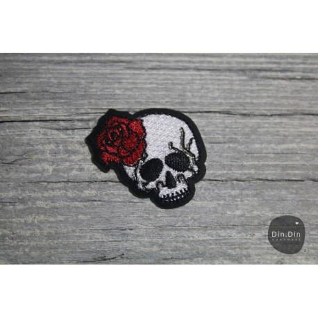 Patch - Totenkopf, Rose
