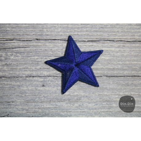 Patch - Stern mittel, blau