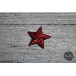 Patch - Stern klein, rot