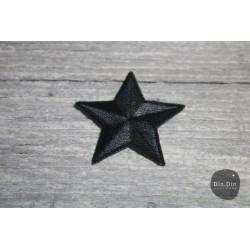 Patch - Stern groß, schwarz
