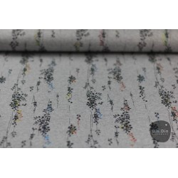 Sweat Blumen, grau/bunt metallic