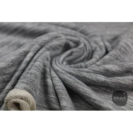 Sweat Melange - grau melliert