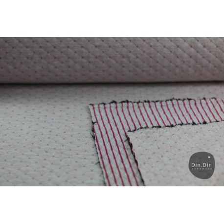 Stepp-Sweat Quilt, Double Face - rosa/beere