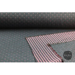 Stepp-Sweat Quilt, Double Face - navy/rosa