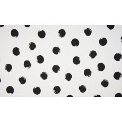Baumwolljersey - Dots weiß/schwarz