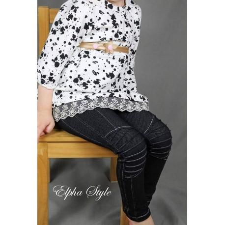 Baumwolljersey - Jeans Strech - schwarz
