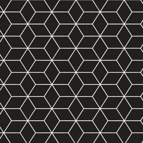 Baumwolljersey - Geometrics schwarz