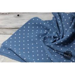 Musselin Baumwolle Sterne - blau