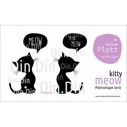 Plottervorlage Plotterdatei Meow