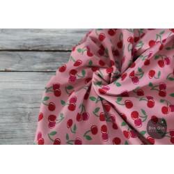 Baumwolljersey Kirschen - rosa