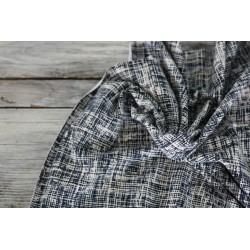 Baumwolljersey Vintage Summer Stripes - navy/ecru