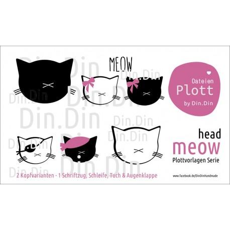 Plottervorlage Plotterdatei Meow - Head