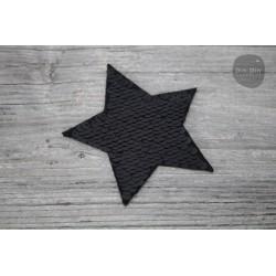 Patch - Pailletten Stern - schwarz