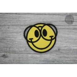 Patch - Smiley Nerd Brille Größe je: ca. 6 x 6,5cm
