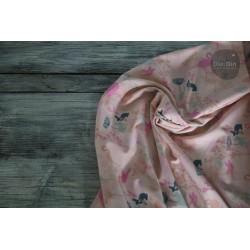 Baumwolljersey Flamingo Summer - rosa