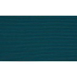 Baumwolljersey - Streifen petrol/aqua