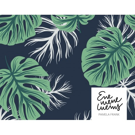 Bio Slubjersey Monstera - Lillestoff