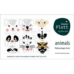 """Plotterdatei """"Komplettserie Animals"""""""