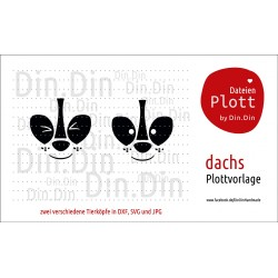 "Plotterdatei ""Dachs - Tierkopf"""