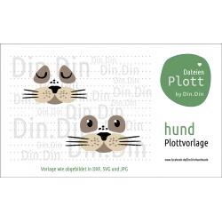 """Plotterdatei """"Hund - Tierkopf"""""""