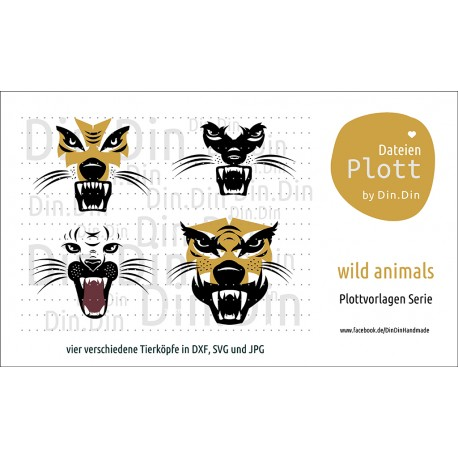 "Plotterdatei ""Wild Animals - Tierkopf"""