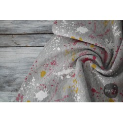 Stepp-Sweat Quilt, Painting Waffle - rosa/rot