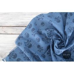 Jeans Totenkopf blau