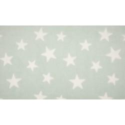 Fleece Jacquard Print Sterne - mint