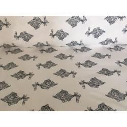 Sommersweat Fishes - weiß/schwarz